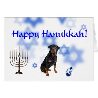 Happy Hanukkah Rottweiler Greeting Cards