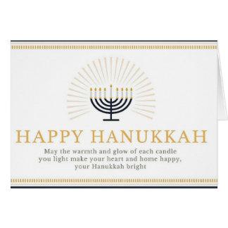 Happy Hanukkah Shining Menorah Card