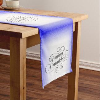 Happy Hanukkah Short Table Runner
