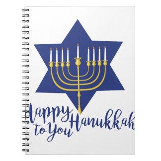 Happy Hanukkah Spiral Notebook