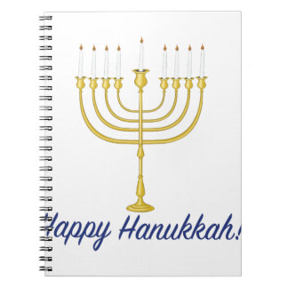 Happy Hanukkah Spiral Notebooks