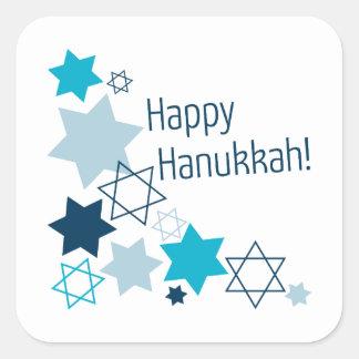 Happy Hanukkah! Square Sticker
