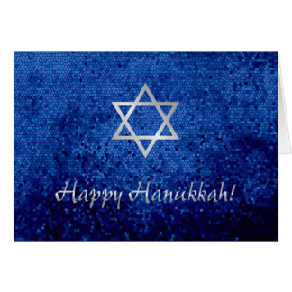 Happy Hanukkah Star of David Card