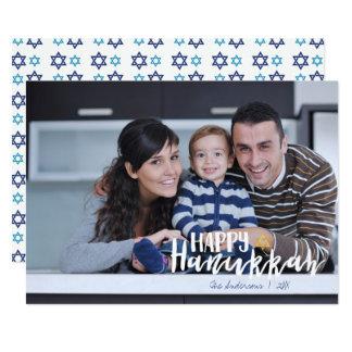 Happy Hanukkah Star of David Holiday Photo Card