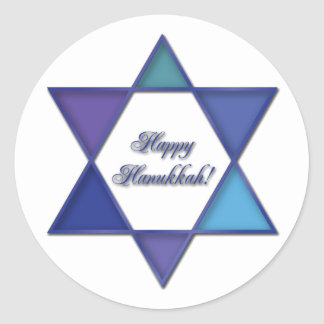 Happy Hanukkah Star of David Sticker