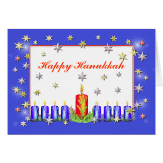 Happy Hanukkah Stars and Candles Cards