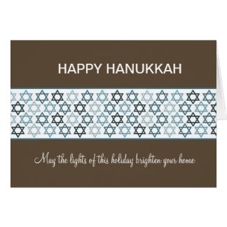 Happy Hanukkah Stars of David Card