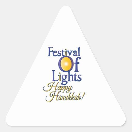 Happy Hanukkah Triangle Sticker