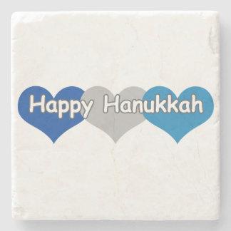 Happy Hanukkah Stone Coaster