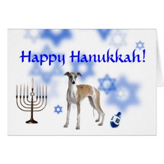 Happy Hanukkah Whippet Card