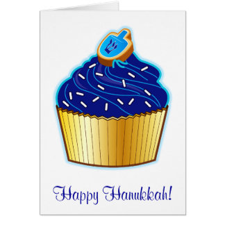 Happy Hanukkah with Cupcake and Cookie Card