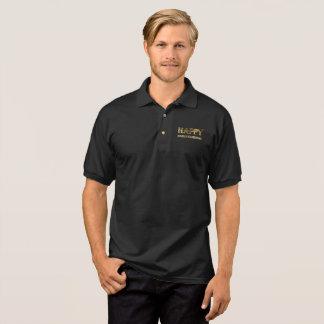 Happy HanuKwanzMas Neologism Gold Look Typography Polo Shirt
