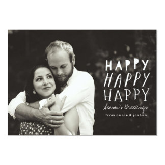 Happy Happy Happy Holiday Photo Card
