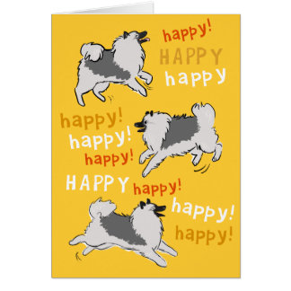 Happy Happy Keeshond Note Card