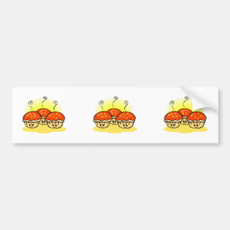 Happy Happy Sad Muffins Bumper Sticker