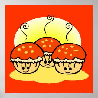 Happy Happy Sad Muffins Poster