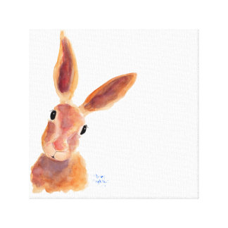 Happy Hare ' Jim Jam' by Shirley MacArthur Canvas Print