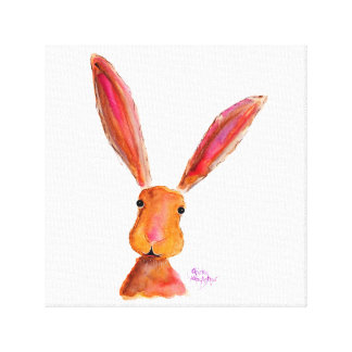 Happy Hare  Rabbit ' LoLLy ' by Shirley MacArthur Canvas Print