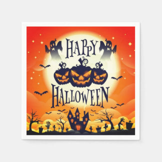 Happy Haunted Halloween Napkin