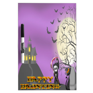 Happy Haunting Reaper Dry Erase Board
