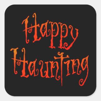 Happy Haunting Square Sticker