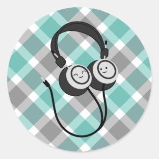 Happy Headphone Stickers