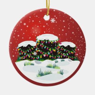 Happy Headstones! Round Ceramic Ornament