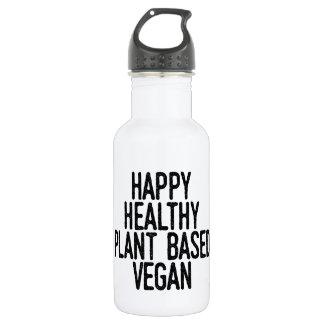 Happy Healthy Plant Based Vegan (blk) 532 Ml Water Bottle