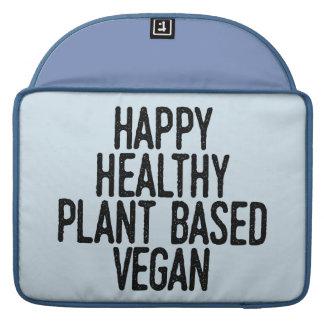 Happy Healthy Plant Based Vegan (blk) Sleeve For MacBook Pro