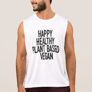 Happy Healthy Plant Based Vegan (blk) Tank Top