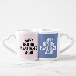Happy Healthy Plant Based Vegan Coffee Mug Set