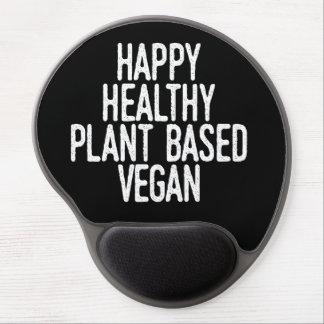 Happy Healthy Plant Based Vegan (wht) Gel Mouse Pad