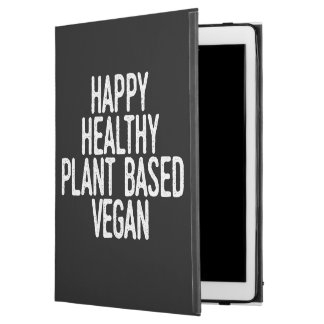 "Happy Healthy Plant Based Vegan (wht) iPad Pro 12.9"" Case"