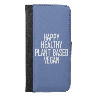 Happy Healthy Plant Based Vegan (wht) iPhone 6/6s Plus Wallet Case