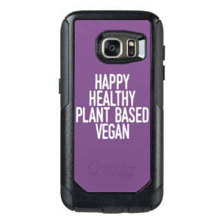 Happy Healthy Plant Based Vegan (wht) OtterBox Samsung Galaxy S7 Case