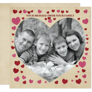 Happy Heart Day Craft Paper Letterpress Look Card