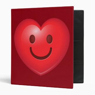 Happy Heart Emoji 3 Ring Binders