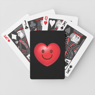 Happy Heart Emoji Bicycle Playing Cards