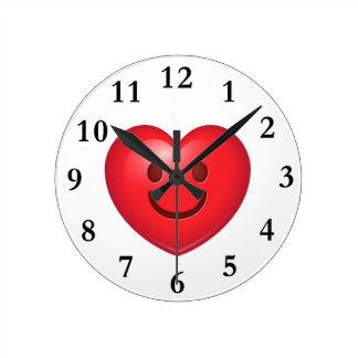 Happy Heart Emoji Clocks