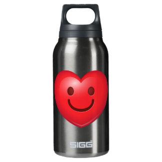 Happy Heart Emoji Insulated Water Bottle