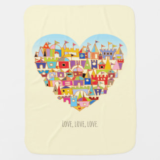 Happy Heart Village Baby Blanket