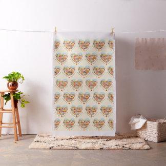 Happy Heart Village Fabric