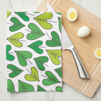 Happy Heartic Leaves Kitchen Towel