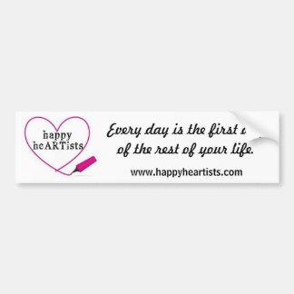 Happy Heartists Bumper Sticker