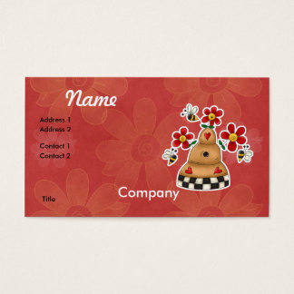 Happy Hearts N Flowers Bee Hive Business Card