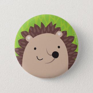 Happy Hedgehog - Woodland Friends 2 Inch Round Button