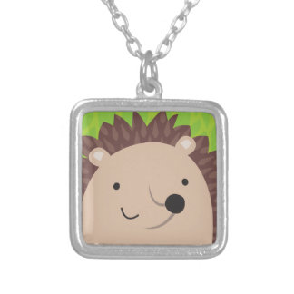 Happy Hedgehog - Woodland Friends Silver Plated Necklace