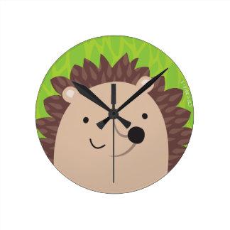 Happy Hedgehog - Woodland Friends Wall Clocks