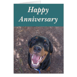Happy Heidi Rottweiler Anniversary Card