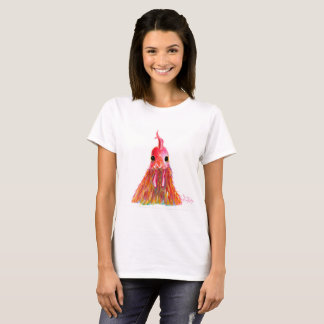 Happy Hen Chicken ' QUEENIE ' by Shirley MacArthur T-Shirt